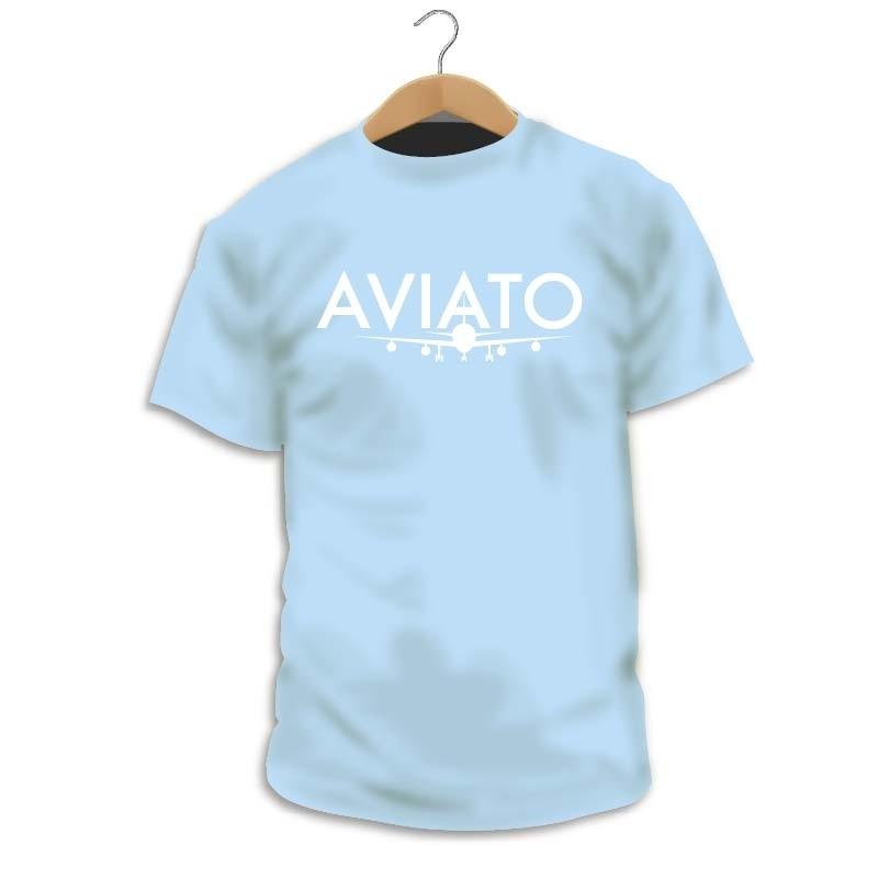 Blue AVIATO Logo T-Shirt, for Men and Girls