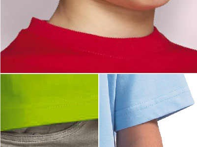 Detalles camiseta niños