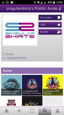 Camisetas con realidad aumentada con Aurasma