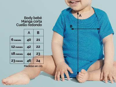 Medidas body bebé