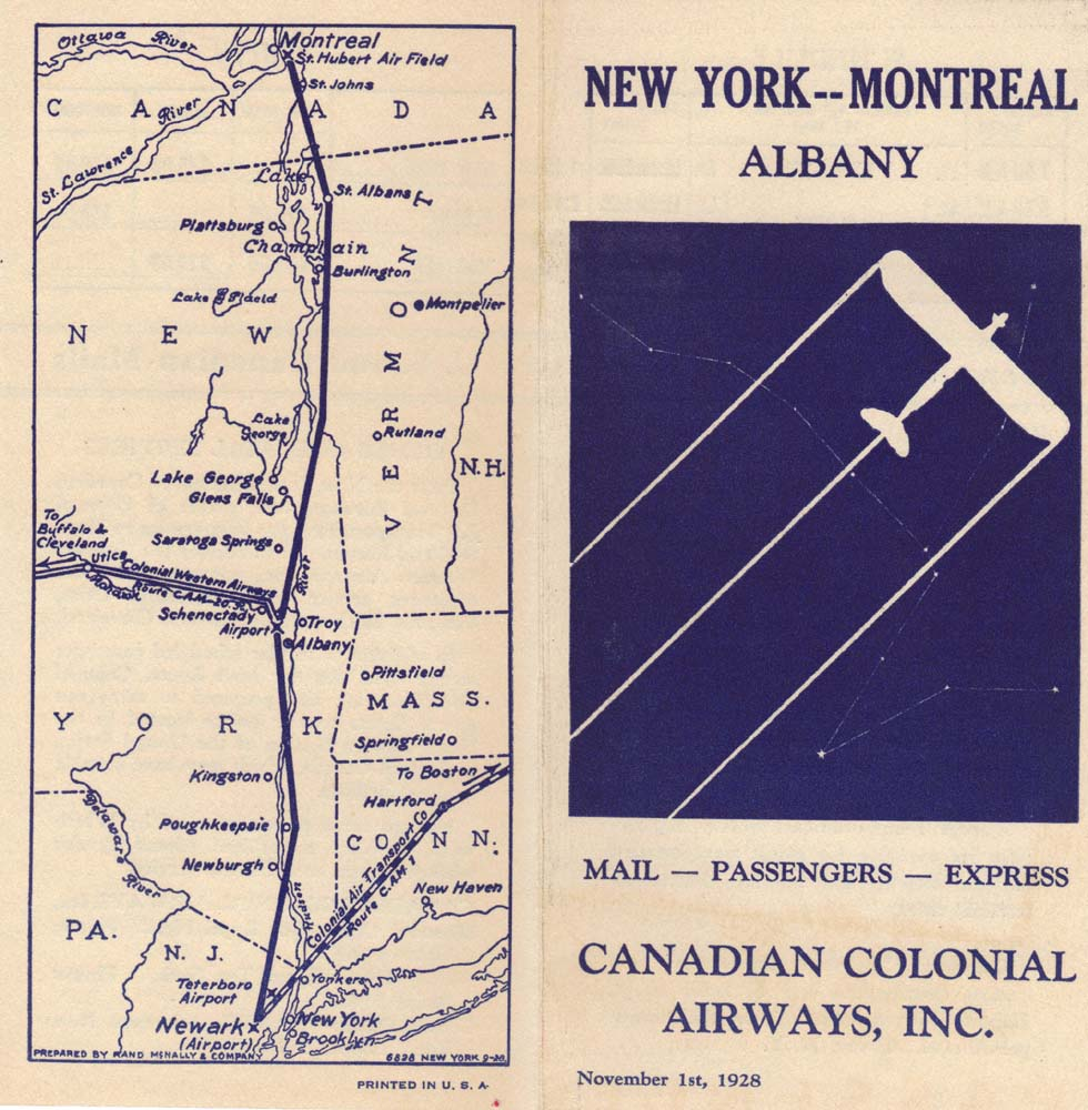 Folleto de la Canadian Airways
