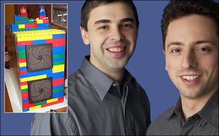 El primer servidor de Google, Larry page y Sergey Brin