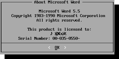 About Microsoft Word