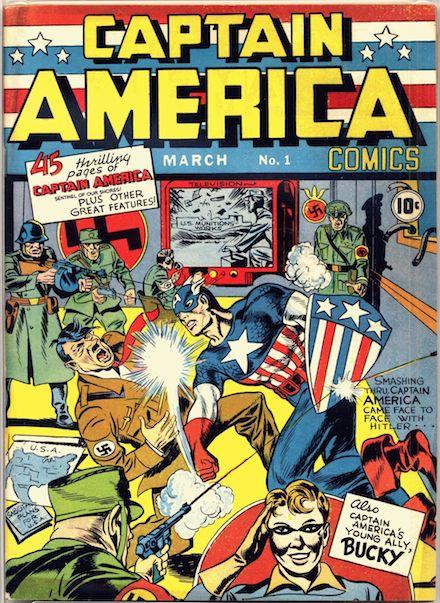 Portada del nº1 del Capitán América aparecido en marzo de 1941