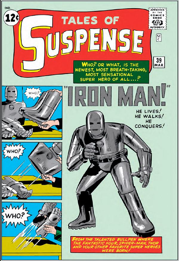 Primera aparición de Iron Man en un cómic en marzo de 1963