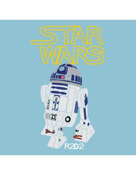 Camiseta Manga Larga de Hombre Star Wars R2D2 C2PO Dark Vader Han Solo Leia Estrella