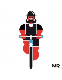 Camiseta Wheels&Mustache by Marco Recuero