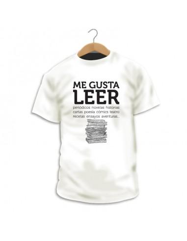 Camiseta Me gusta leer