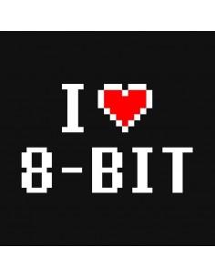 Camiseta I Love 8-Bits