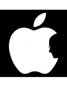Camiseta Remember Steve con la imagen de Steve Jobs silueteada sobre la manzana de Apple
