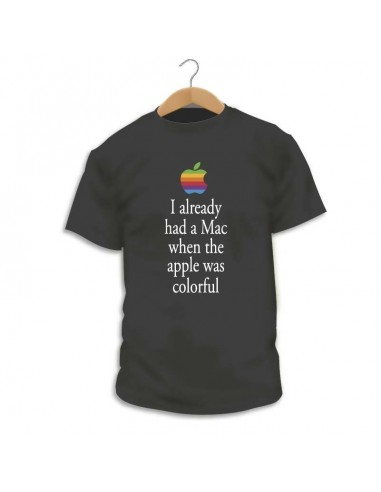 Camiseta Apple Rainbow