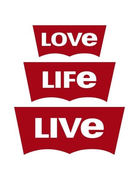 Camiseta Love, Life, Live
