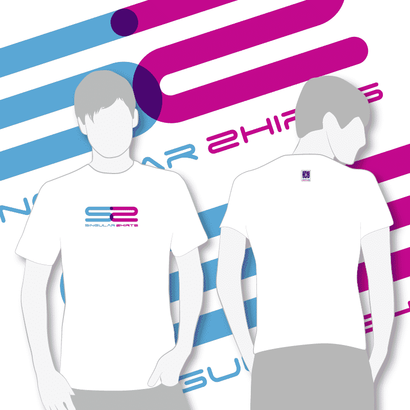 Camiseta logotipo singular shirts blanca chico chica_0002