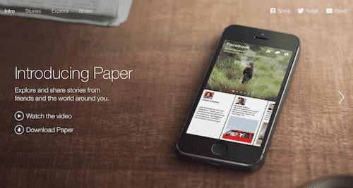 Paper o como usar Facebook como un libro