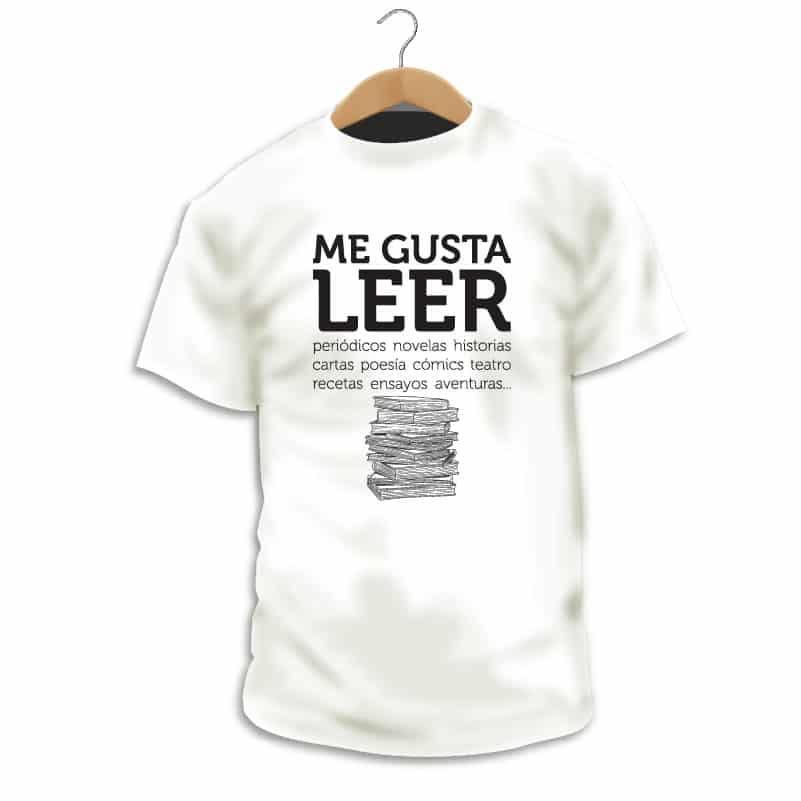 """Camiseta """"Me gusta leer"""" - Singular Shirts"""