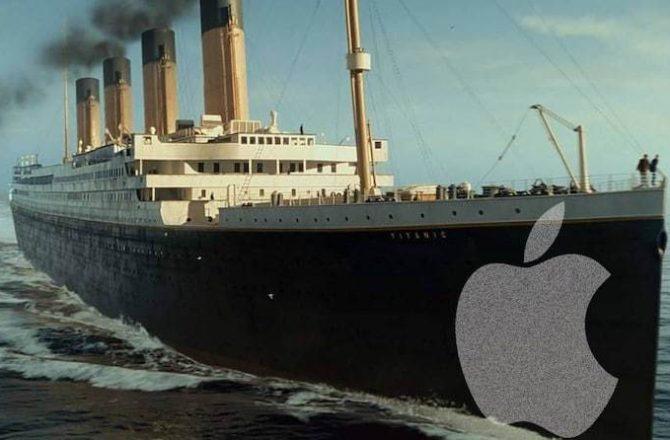 Apple y el Titanic