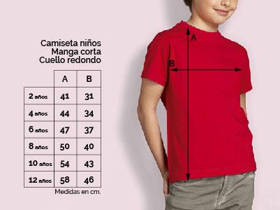 Tallas camisetas niños