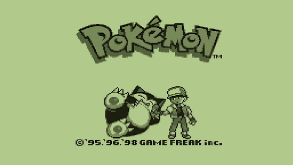 Pokemon Vintage - Splash Screen de Pokemon en una Game Boy